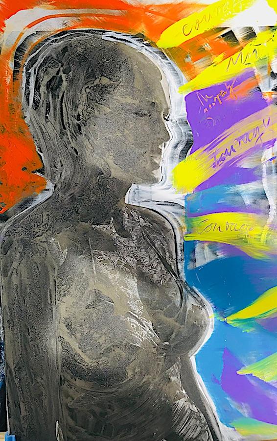 Ursula Andress - James Bond - Roger Fritz - Uebermalung: Kiddy Citny