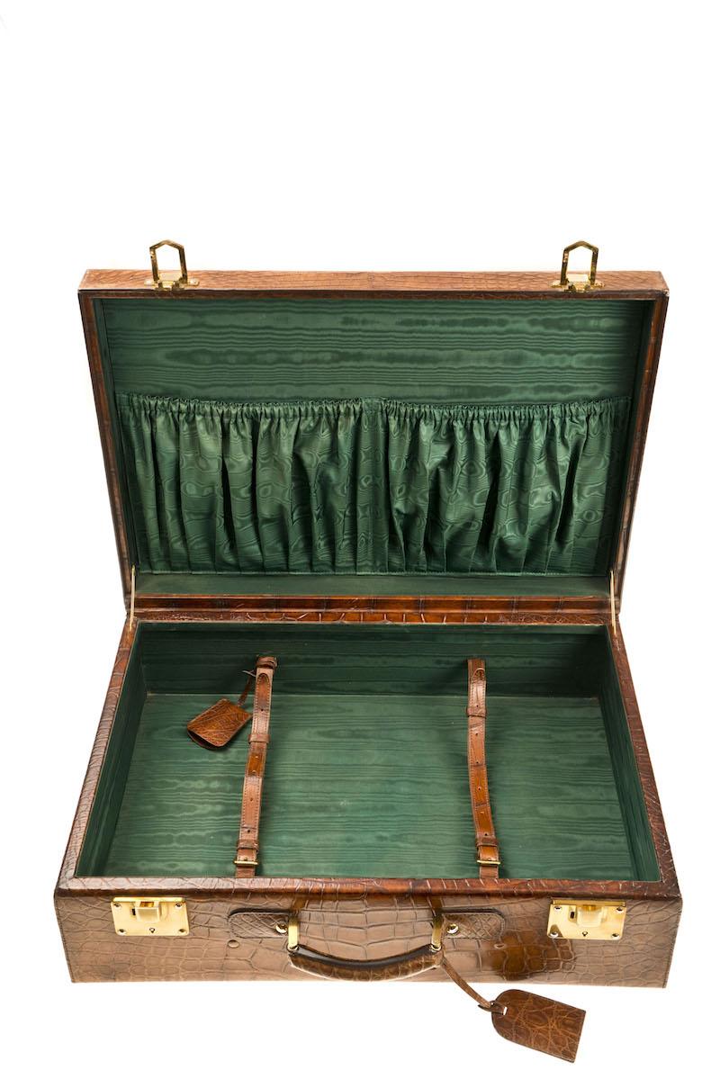 ein herrlicher Krokokoffer aus einer anderen Zeit - ein Einzelstück aus der Privatsammlung von Ed.Meier München